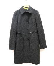 DOLCE & GABBANA(ドルチェ&ガッバーナ)の古着「ボタニカルライナーウールコート」|グレー