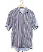 COMME des GARCONS SHIRT(コムデギャルソンシャツ)の古着「ドッキングデザインオープンカラーシャツ」