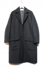 LIDnM(リドム)の古着「チェスターコート」|ブラック