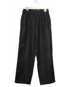 YS for men(ワイズフォーメン)の古着「リネンワイドパンツ」|ブラック