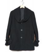 LEONARD(レオナール)の古着「テキスタイルベルトウールショートコート」|ブラック