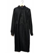 BALLY(バリー)の古着「シルクワンピース」|ブラック