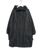 PRADA(プラダ)の古着「フーデッドコート」|ブラック