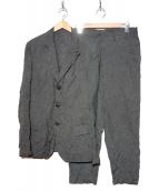 YohjiYamamoto pour homme(ヨウジヤマモト プールオム)の古着「シワ加工セットアップスーツ」 グレー