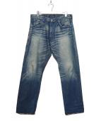 LEVIS FENOM × FRAGMENT DESIGN(リーバイス フェノム × フラグメント デザイン)の古着「バックポケット刺繍デニムパンツ」|インディゴ