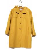 Jocomomola(ホコモモラ)の古着「フーデットメルトンコート」 イエロー