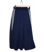 RAY BEAMS(レイビームス)の古着「サイドラインジャージスカート」|ネイビー