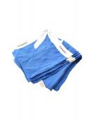 CHANEL(シャネル)の古着「リボンシルクスカーフ」|ブルー