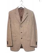 DOLCH&GABBANA(ドルチェアンドガッバーナ)の古着「チェックウールジャケット」|ブラウン