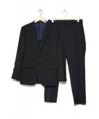 COMME CA ISM(コムサイズム)の古着「ポリスド小紋ドビーセットアップ」|ブラック