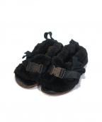 TAO COMME des GARCONS(タオ コムデギャルソン)の古着「[OLD]ベルト付きファーサンダル」|ブラック