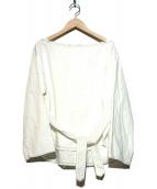 JEAN NERET(ジャン ヌレ)の古着「ライトオンスデニムブラウス」 ホワイト