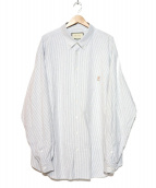 GUCCI(グッチ)の古着「ピック刺繍オーバーサイズシャツ」 スカイブルー