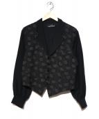 tricot COMME des GARCONS(トリココムデギャルソン)の古着「80'S切替ブルゾン」|ブラック