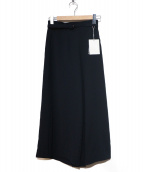Ameri VINTAGE(アメリビンテージ)の古着「ベルト付ワイドパンツ」|ネイビー