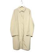 MaxMara(マックスマラ)の古着「ステンカラーコート」|ベージュ