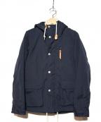 BEAUTY&YOUTH(ビューティーアンドユース)の古着「ボオアライナー付マウンテンパーカー」|ネイビー
