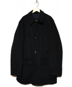 CORNELIANI(コルネリアーニ)の古着「メルトンステンカラーコート」|ネイビー
