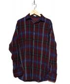 LAD MUSICIAN(ラッドミュージシャン)の古着「レーヨンビッグシャツ」|パープル