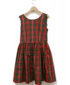 Lois CRAYON(ロイスクレヨン)の古着「リボンデザインワンピース」|レッド