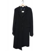 Martin Margiela(マルタンマジェイラ)の古着「チェスターコート」|ブラック
