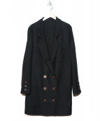 Martin Margiela(マルタンマジェイラ)の古着「ダブルチェスターコート」|ブラック