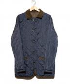 MACKINTOSH PHILOSPHY(マッキントッシュ フィロソフィー)の古着「リバーシブルキルティングジャケット」|グリーン×ネイビー