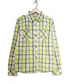 Columbia(コロンビア)の古着「チェックシャツ」|イエロー