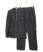 COMME des GARCONS HOMME DEUX(コムデギャルソンオムデュー)の古着「セットアップステッチスーツ」|ブラック