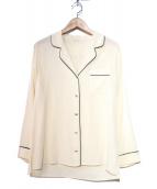 MUSE de Deuxieme Classe(ミューズデドゥーズィエム クラス)の古着「シルクパジャマシャツ」|ベージュ