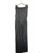 YOHJI YAMAMOTO(ヤマモトヨウジ)の古着「デニムオーバーオール」|ブラック