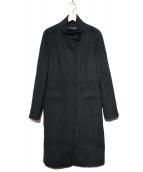 Weekend Max Mara(ウィークエンド)の古着「スタンドカラーウールコート」|ブラック