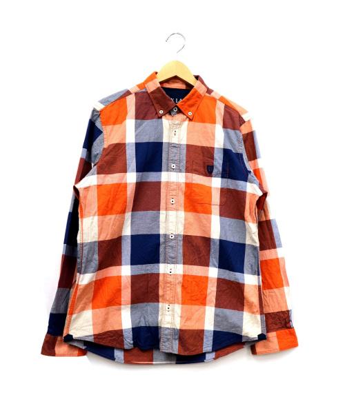 BLACK LABEL CRESTBRIDGE(ブラックレーベルクレストブリッジ)BLACK LABEL CRESTBRIDGE (ブラックレーベルクレストブリッジ) チェックシャツ オレンジ サイズ:Lの古着・服飾アイテム