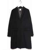 MUSE de Deuxieme Classe(ミューズ ドゥーズィエム クラス)の古着「チェスターコート」|ブラック