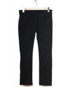 AP STUDIO(エーピーステゥディオ)の古着「ストレッチクロップドスキニー」|ブラック