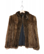 SAGA MINK(サガミンク)の古着「ハーフミンクコート」 ブラウン