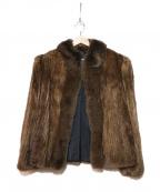 SAGA MINK(サガミンク)の古着「ハーフミンクコート」|ブラウン