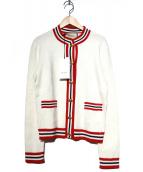 GUCCI(グッチ)の古着「GGウールシルクカーディガン」|ホワイト