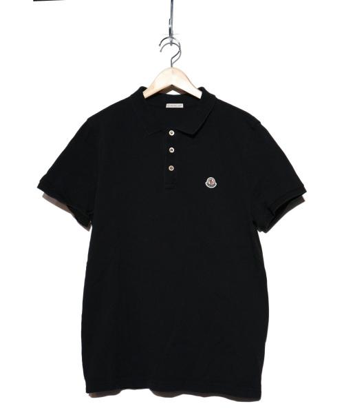 MONCLER(モンクレール)MONCLER (モンクレール) ポロシャツ ブラック サイズ:Lの古着・服飾アイテム