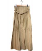 RITA JEANS TOKYO(リタジーンズトウキョウ)の古着「ミリタリーアコーディオンスカート」|ベージュ