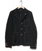 COMME des GARCONS SHIRT(コムデギャルソンシャツ)の古着「ワークステッチジャケット」|ブラック