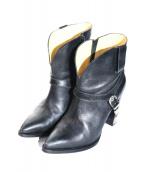 TOGA PULLA(トーガ プルラ)の古着「ウエスタンショートブーツ」|ブラック