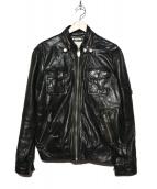 DIESEL(ディーゼル)の古着「ラムレザーライダースジャケット」 ブラック