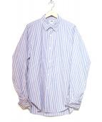 H BEAUTY&YOUTH(エイチ ビューティアンドユース)の古着「ダブルカフスシャツ」|スカイブルー