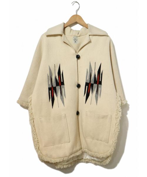 ORTEGAS(オルテガ)ORTEGAS (オルテガ) チマヨポンチョ アイボリー サイズ:表記なしの古着・服飾アイテム