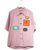 LIBERUM(リベルム)の古着「別注ステッカーシャツ」|ピンク