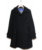 BURBERRY BLUE LABEL(バーバリーブルーレーベル)の古着「フレアPコート」|ブラック