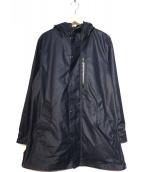 narifuri(ナリフリ)の古着「サイドスプリットハーフコート」|ネイビー