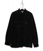 Karl Helmut(カールヘルム)の古着「[古着]マルチアイコンピッグスエードシャツ」|ブラック