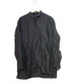 KAPTAIN SUNSHINE(キャプテン サンシャイン)の古着「Sleeping Wide Shirt」|ブラック
